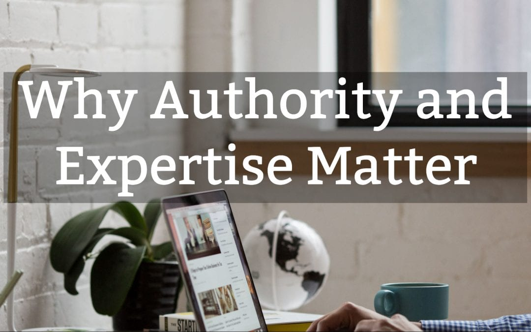 Why Authority and Expertise Matter